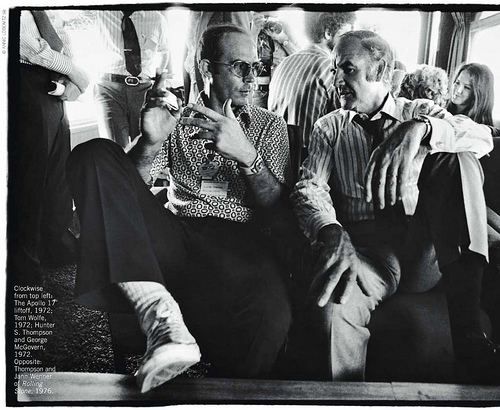 Hunter S. Thompson and McGovern, 1972, Annie Leibovitz