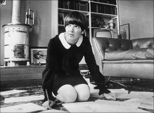 Mary Quant at work