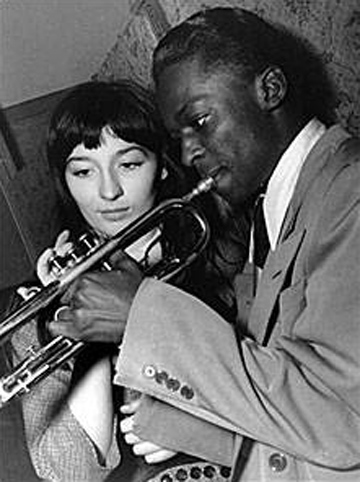 Miles Davis and French actress Juliette Greco (1949)