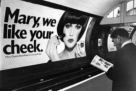 Mary Quant - Style icon used in clever advertising campaign, late Sixties.