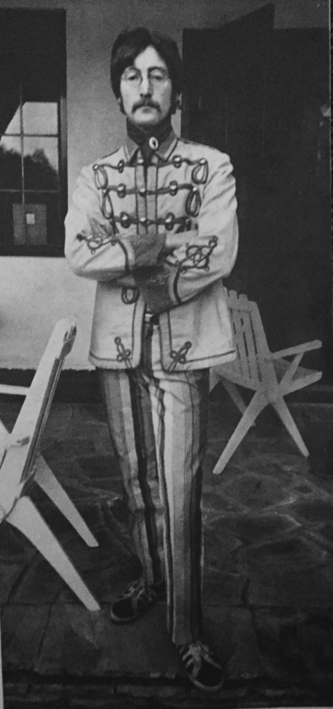 Lennon, whose eccentric clothing is mostly tailor-made is a frequent visitor at Ringo's home.