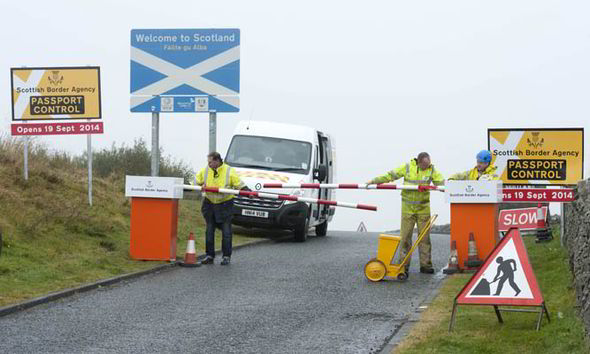 Spoof Scottish Border Control